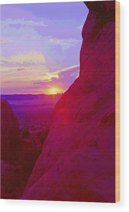 Southwest Wood Print featuring the photograph Southeastern Utah Sunset 4 by Steve Ohlsen