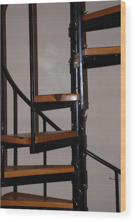Stairs Wood Print featuring the photograph Spiral Stairs by Rob Hans