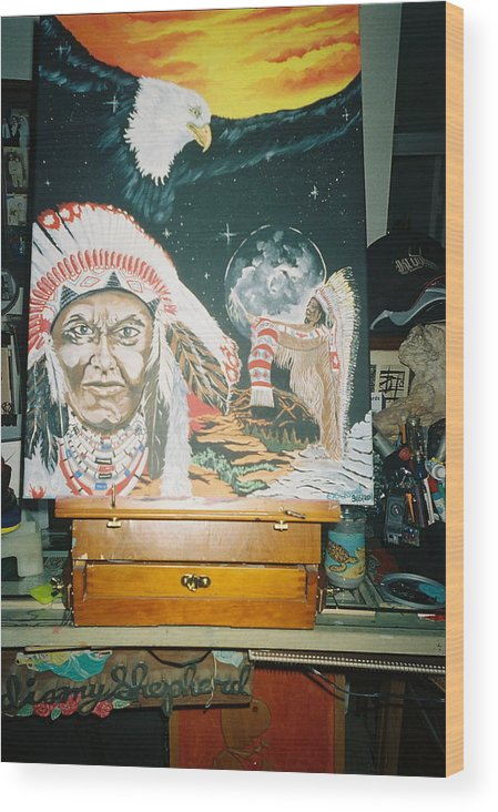 Southwest Wood Print featuring the painting Spirit Of The Chief by Richard Erickson