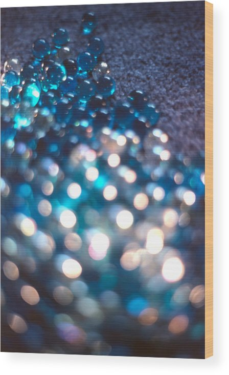 Marbles Wood Print featuring the photograph Spotlighted Marble Abstract 4 by Steve Ohlsen