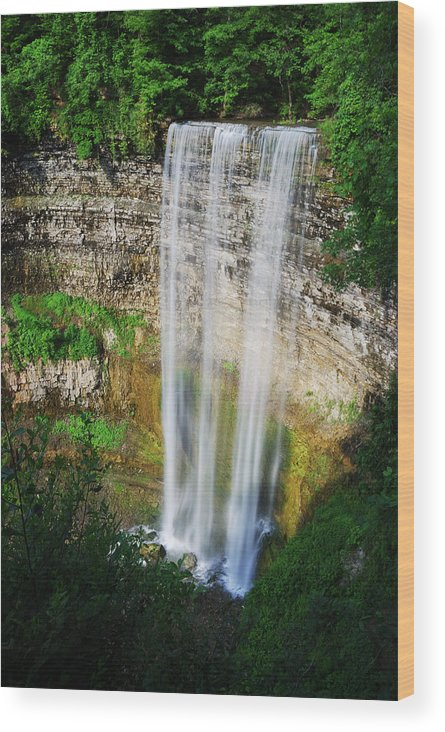 Waterfall Wood Print featuring the photograph Tew's Waterfall by Andriy Zolotoiy