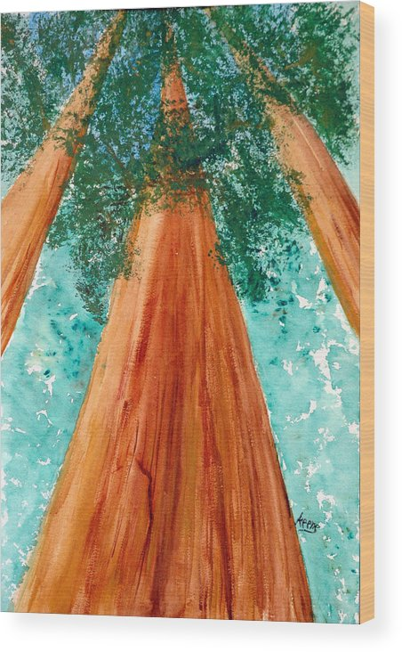 Wood Print featuring the painting The Grove At White Sulphur Springs by David Keene