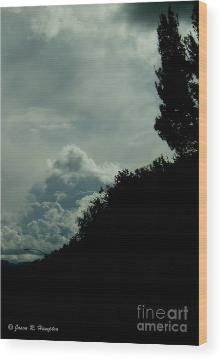 Trees Wood Print featuring the photograph The Hillside by Jason R Hampton