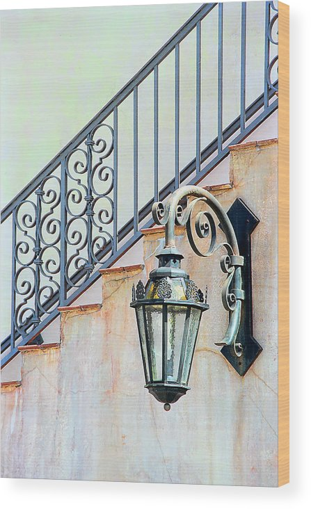 Landscape Wood Print featuring the photograph The Lamp by Pat Carosone