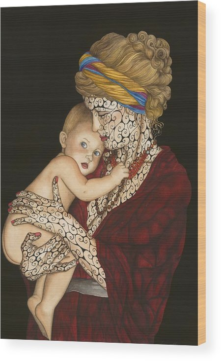 Figure Wood Print featuring the painting The Legacy by Tina Blondell