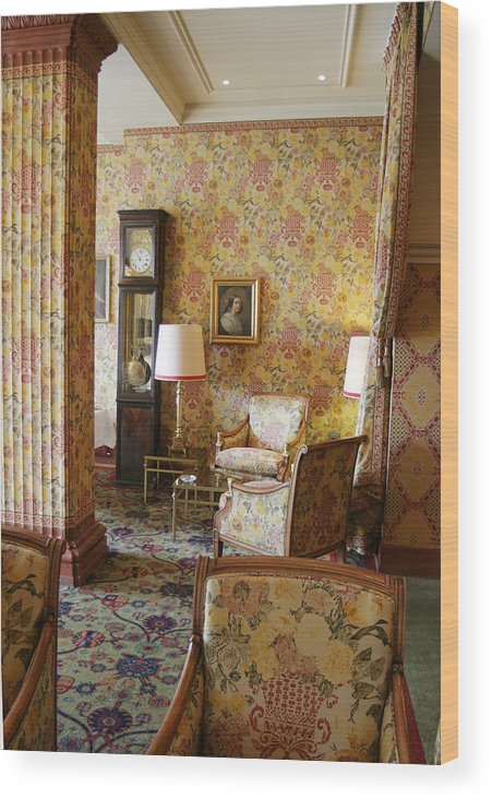 Decor Wood Print featuring the photograph This Wallpaper Has To Go by Carl Purcell