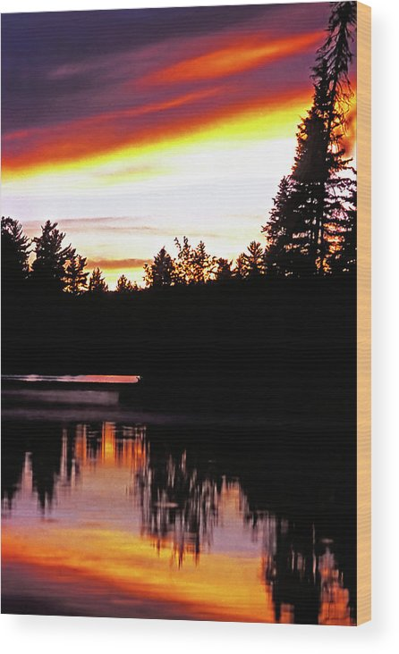 Landscape Wood Print featuring the photograph Tripping II by Steve Harrington