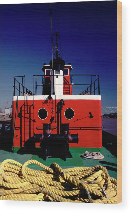 Boating Wood Print featuring the photograph Tug Boat by Jack Foley