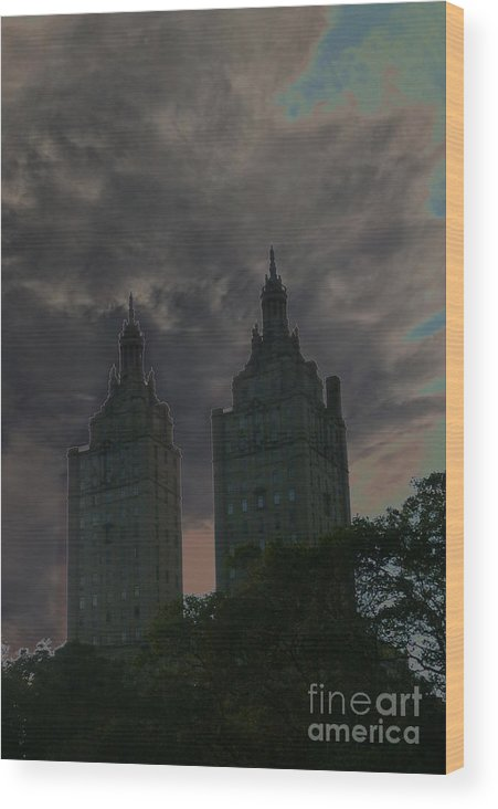 Travel Wood Print featuring the photograph Two Towers by Anna Duyunova