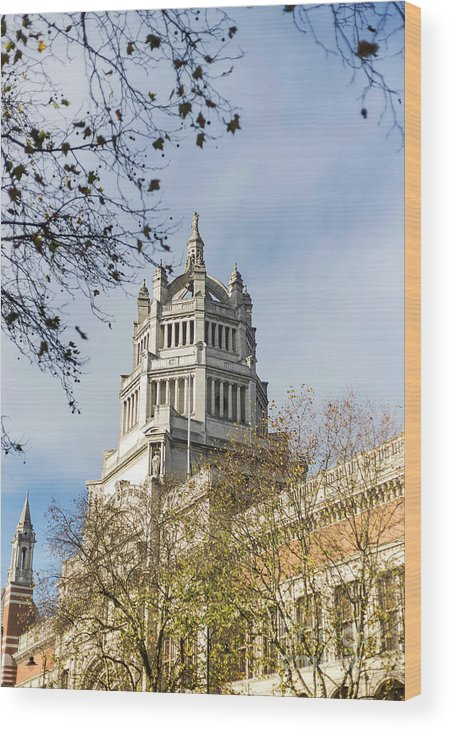 Victoria And Albert Museum Wood Print featuring the photograph Victoria And Albert Museum London by Alex Art and Photo