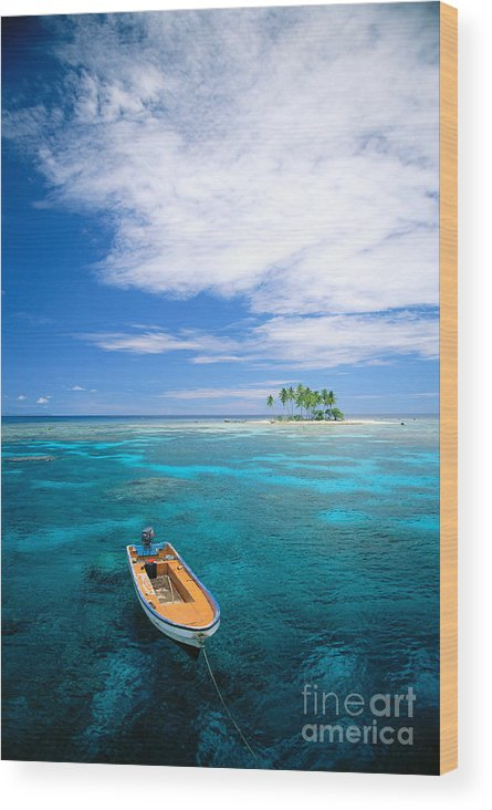 Blue Wood Print featuring the photograph View Of Micronesia by Rick Gaffney - Printscapes