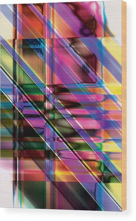 Abstract Wood Print featuring the digital art Water Color Window by Gae Helton