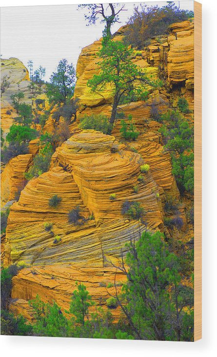Utah Wood Print featuring the photograph Weathered Rock by Dennis Hammer