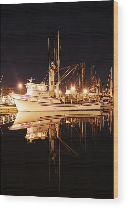 Fishing Wood Print featuring the photograph Wenona by Alasdair Turner