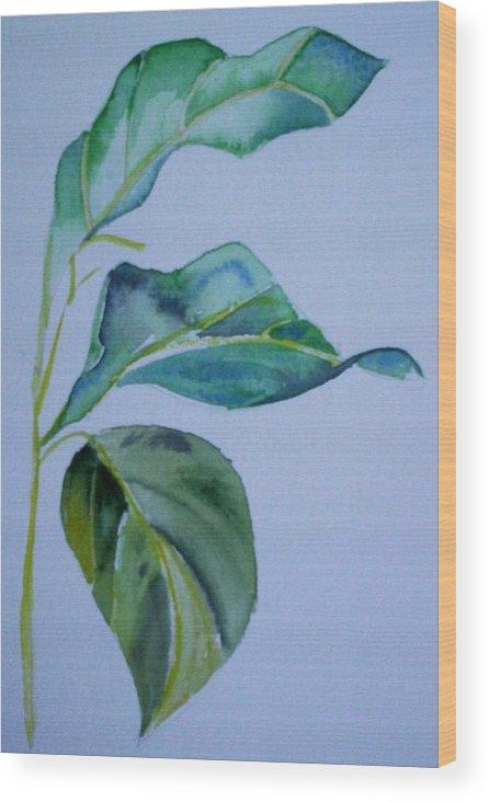 Nature Wood Print featuring the painting Window View by Suzanne Udell Levinger