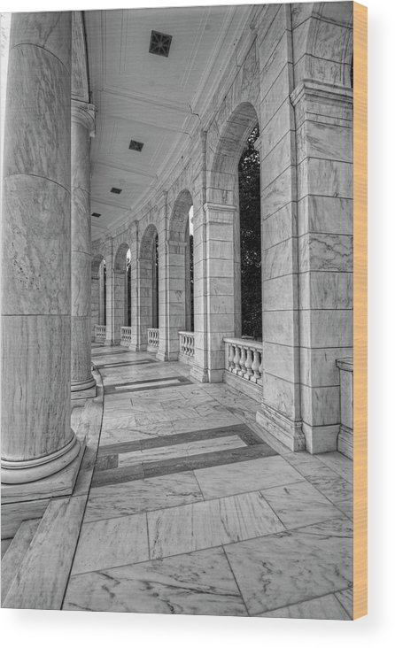 Craig Fildes Photography Wood Print featuring the photograph Arlington National Cemetery Memorial Amphitheater by Craig Fildes