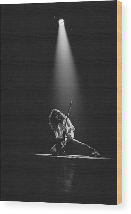 1980-1989 Wood Print featuring the photograph Van Halen Live At The Rainbow by Fin Costello