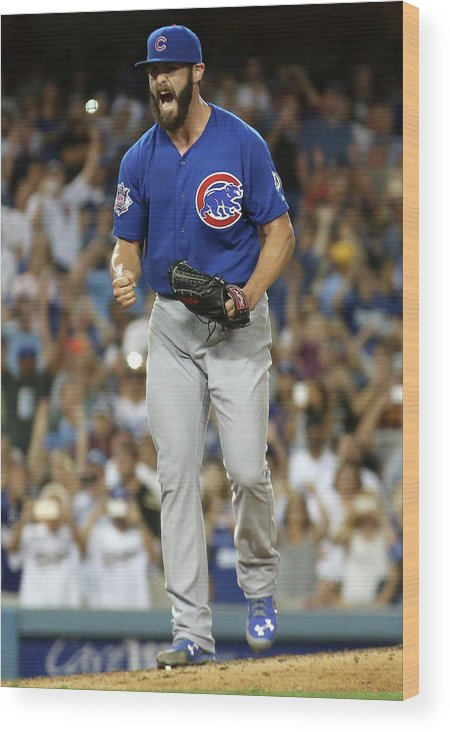People Wood Print featuring the photograph Jake Arrieta by Stephen Dunn