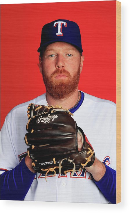 Media Day Wood Print featuring the photograph Tommy Hanson by Jamie Squire