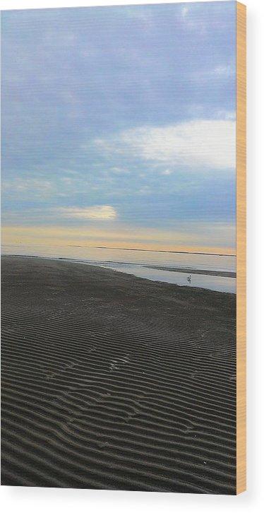 Grace Nava Wood Print featuring the photograph Sand Art by Grace Nava