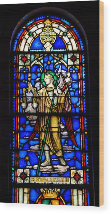 Stained Glass Art Wood Print featuring the photograph Stained Glass 50 by Joyce StJames