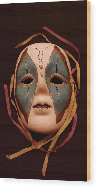 Impressionism.mask Wood Print featuring the photograph The Mask by Tom Snow