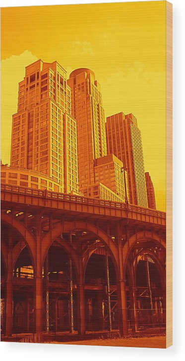 Manhattan Prints And Posters Wood Print featuring the photograph Upper West Side And Hudson River Manhattan by Monique Wegmueller