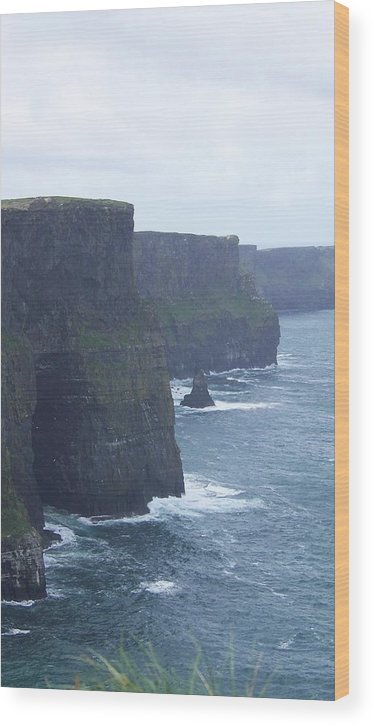 Ireland Wood Print featuring the photograph Clifts Of Moher by Cathryn Brown