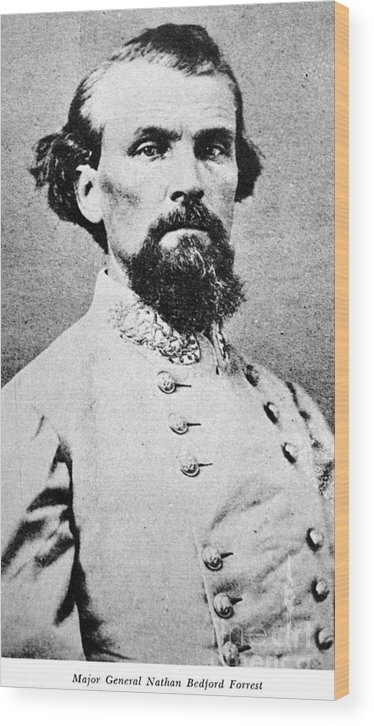 1864 Wood Print featuring the photograph Nathan Bedford Forrest by Granger