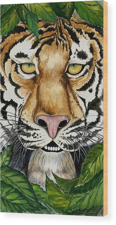 Art Wood Print featuring the painting Be Like A Tiger by Carol Sabo
