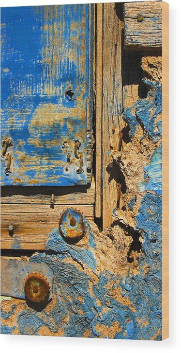 Abstract Wood Print featuring the photograph Blues Dues by Skip Hunt