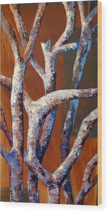 Acrylic Wood Print featuring the painting Branches by Cathy Fuchs-Holman