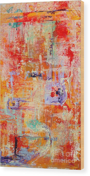 Large Format Painting Wood Print featuring the painting Crescendo by Pat Saunders-White