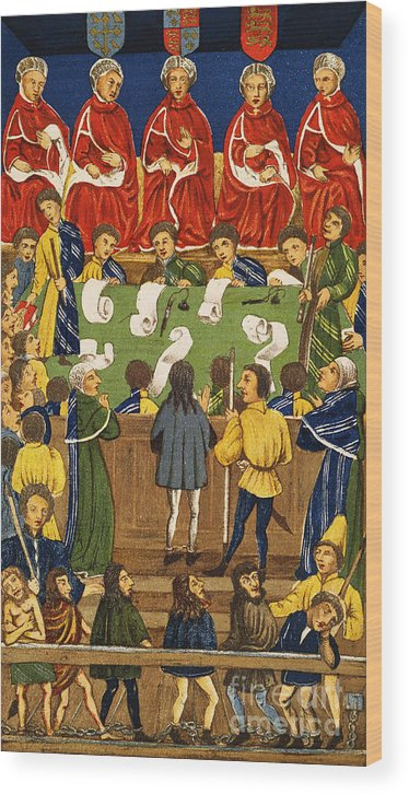 Wood Print featuring the painting England: Court, 15th Century by Granger