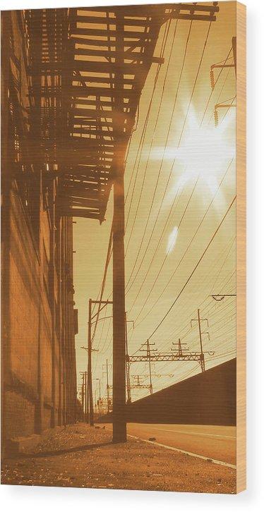 Urban Wood Print featuring the photograph Life On Mars by Joseph Cusano IV