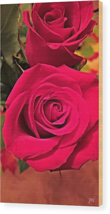 Scarlet Wood Print featuring the photograph Scarlet Roses by Jennifer Virag