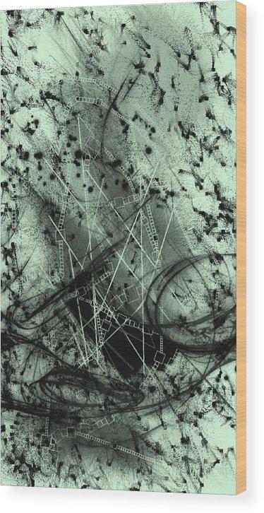 The Dark Age Wood Print featuring the digital art The Dark Age by Shubham Kumar