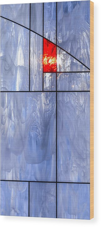 Abstract Wood Print featuring the photograph Stained Class by Brian Stevens