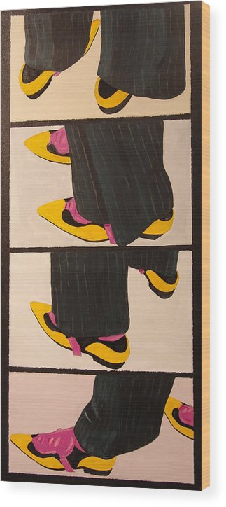 New Museum Wood Print featuring the painting Dancin Shoes by Kevin Callahan