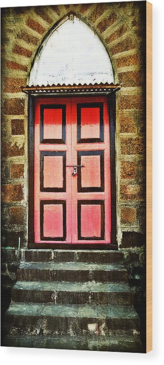 Wood Print featuring the photograph Door by Charuhas Images