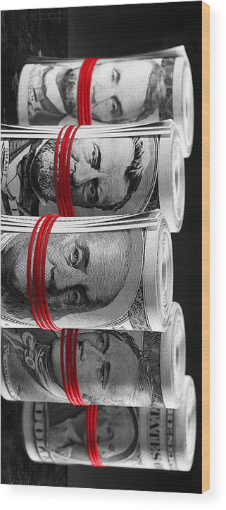 Money Wood Print featuring the digital art Presidents For Ransom by Canvas Cultures