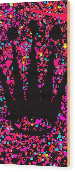 Rolex Wood Print featuring the digital art Speck Of Time Pink by Canvas Cultures