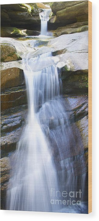 Nh Wood Print featuring the photograph Waterfall In Nh by Michael Mooney