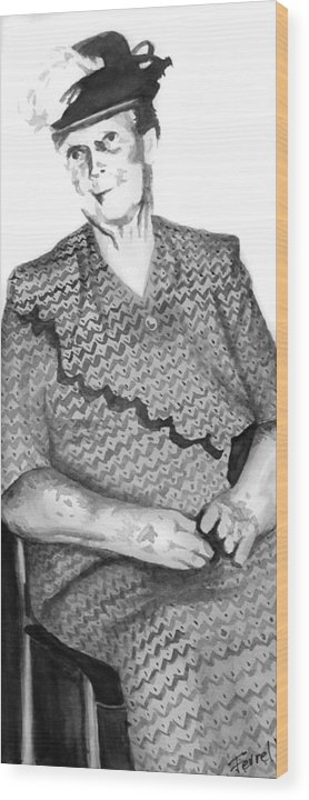 Grandmother Wood Print featuring the painting Grandma by Ferrel Cordle