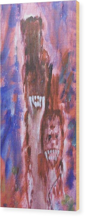 Vampires Wood Print featuring the painting Happy by Randall Ciotti