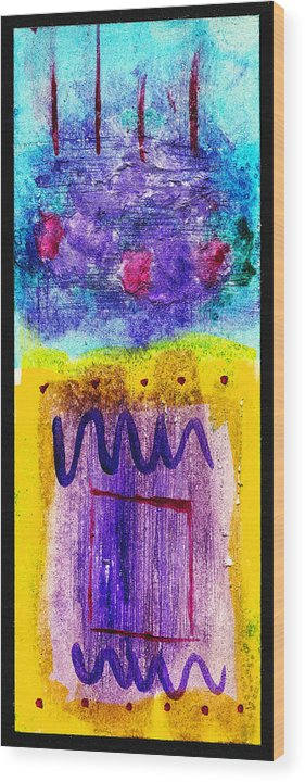 Abstract Wood Print featuring the painting I Hear The Thunder by Arnold Isbister