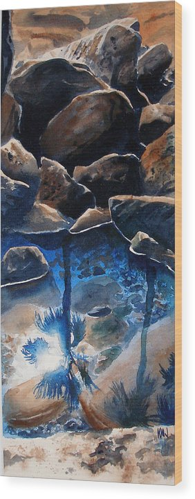 Seascape Wood Print featuring the painting Reflections by Ken Meyer