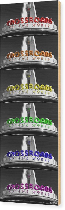 Crossroads Wood Print featuring the photograph Crossroads Panorama by Al Blackford