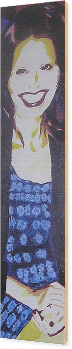 Portrait Wood Print featuring the painting Smile Of Beauty by Ricklene Wren