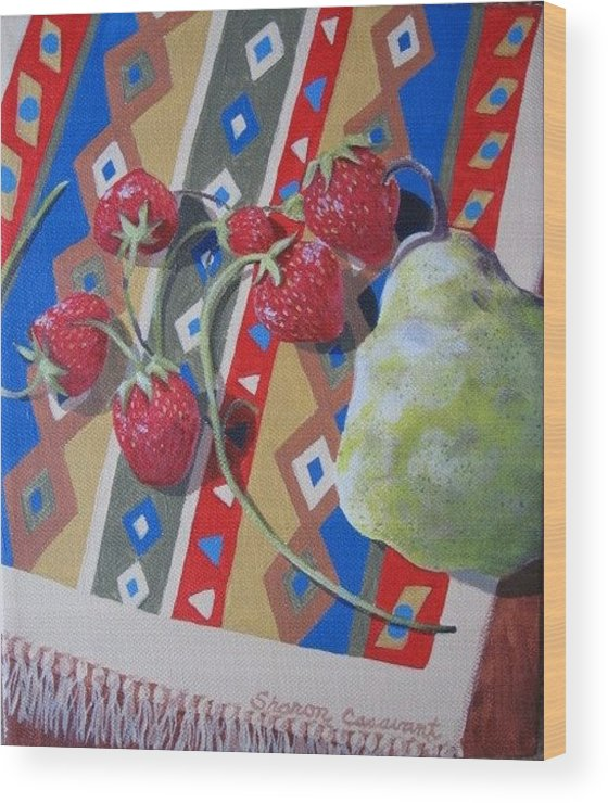 Fruit Wood Print featuring the painting Colorful Fruit by Sharon Casavant